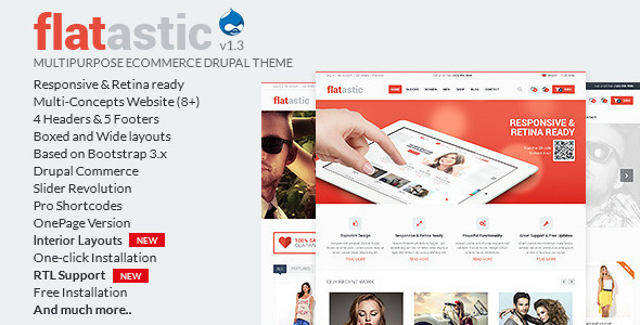 Flatastic – Multipurpose eCommerce Drupal Theme