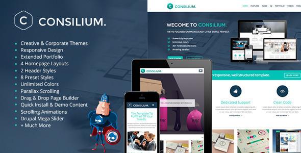 Consilium – Multipurpose Creative Drupal Theme