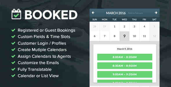 BOOKED APPOINTMENTS V1.9.4 – APPOINTMENT BOOKING FOR WORDPRESS