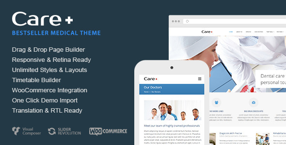 Care 4.5.1 – Medical and Health Blogging WordPress Theme