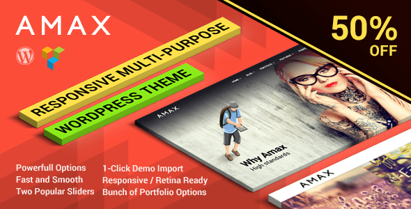 Amax 1.1.2 — Responsive Multi-Purpose WordPress Theme