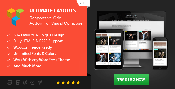 Free Dowlnload ULTIMATE LAYOUTS 1.1.2 – RESPONSIVE GRID – ADDON FOR VISUAL COMPOSER