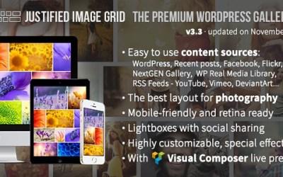 JUSTIFIED IMAGE GRID V3.3 – PREMIUM WORDPRESS GALLERY