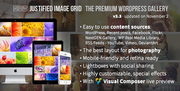 JUSTIFIED IMAGE GRID V3.3 – PREMIUM WORDPRESS GALLERY