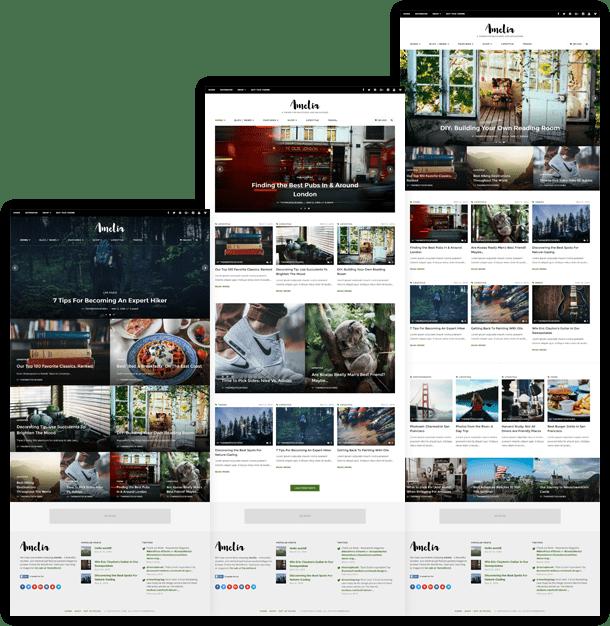 image: Amelia WordPress Theme Layouts