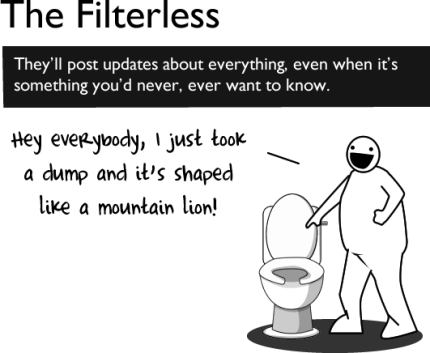 filterless - Etiqueta no Facebook