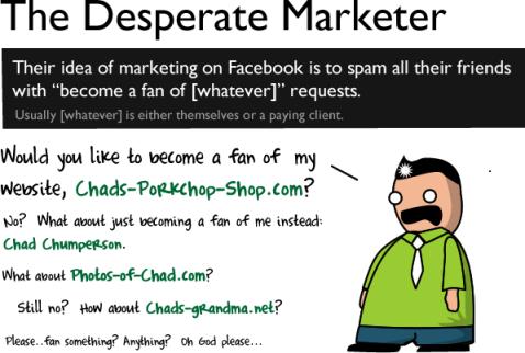marketer - Etiqueta no Facebook