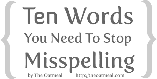 Top Ten Words You Need to Stop Misspelling