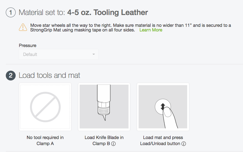 Set the material to Tooling Leather when cutting it on the Cricut.