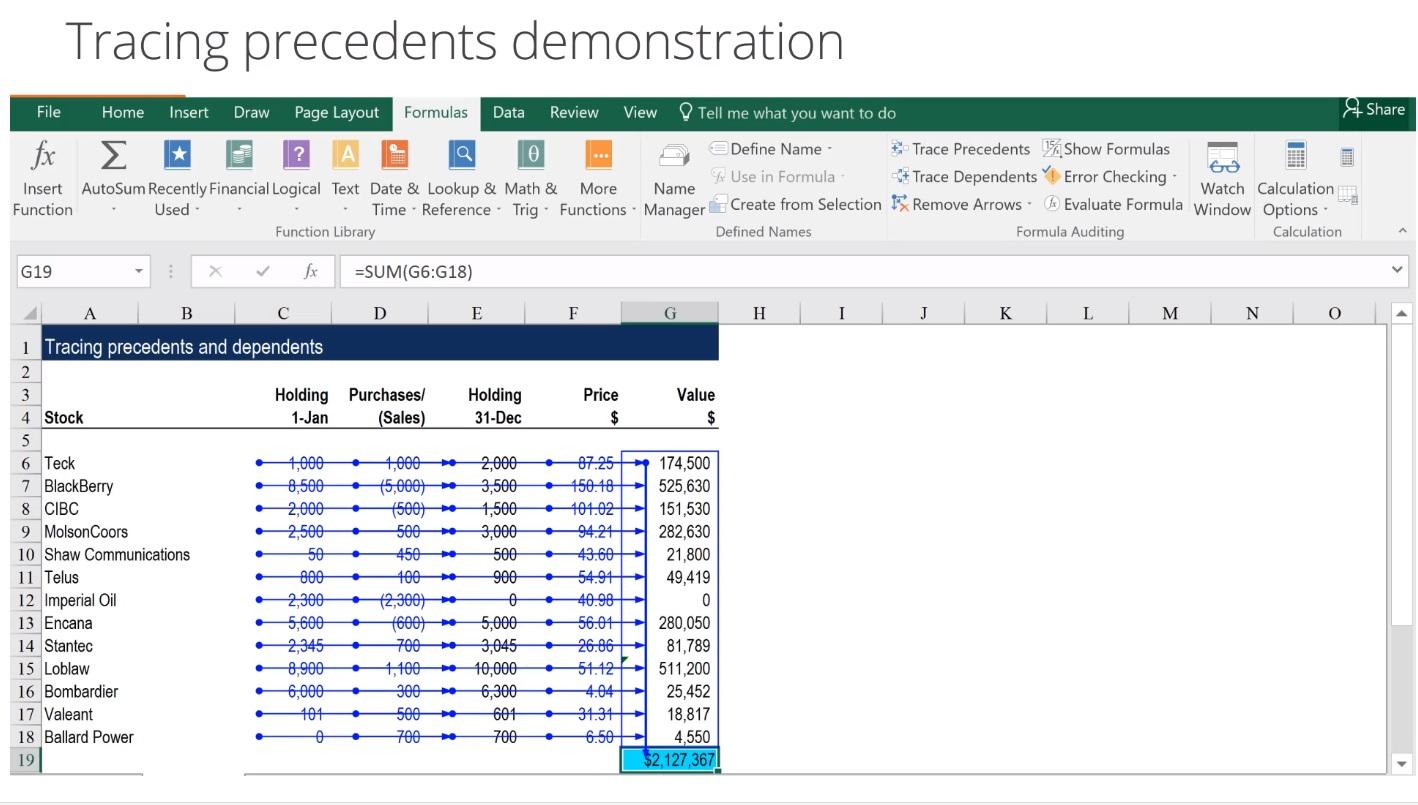 Excel Modeling Fundamentals Course