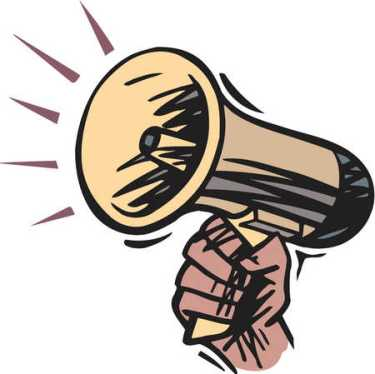 Image result for pics of megaphone blaring