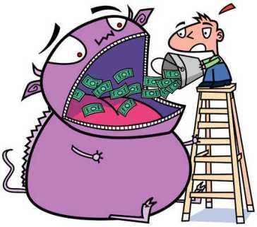 Image result for inflation eating money