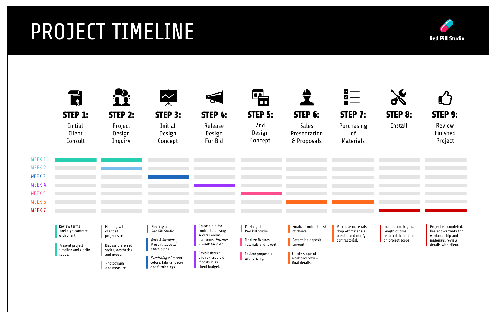Project Plan Timeline Infographic
