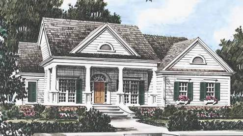 Southern Living House Plans   Greek Revival House Plans Sl 277