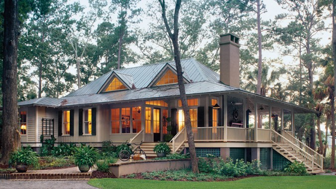 Wrap around Porches House Plans   Southern Living House Plans Sl 1375 fcp