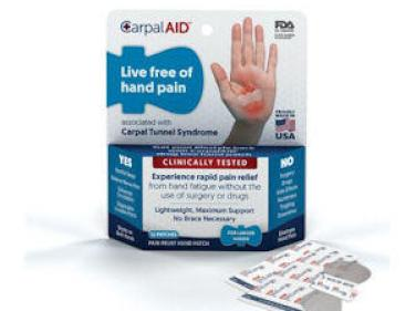 Free Sample From CarpalAid