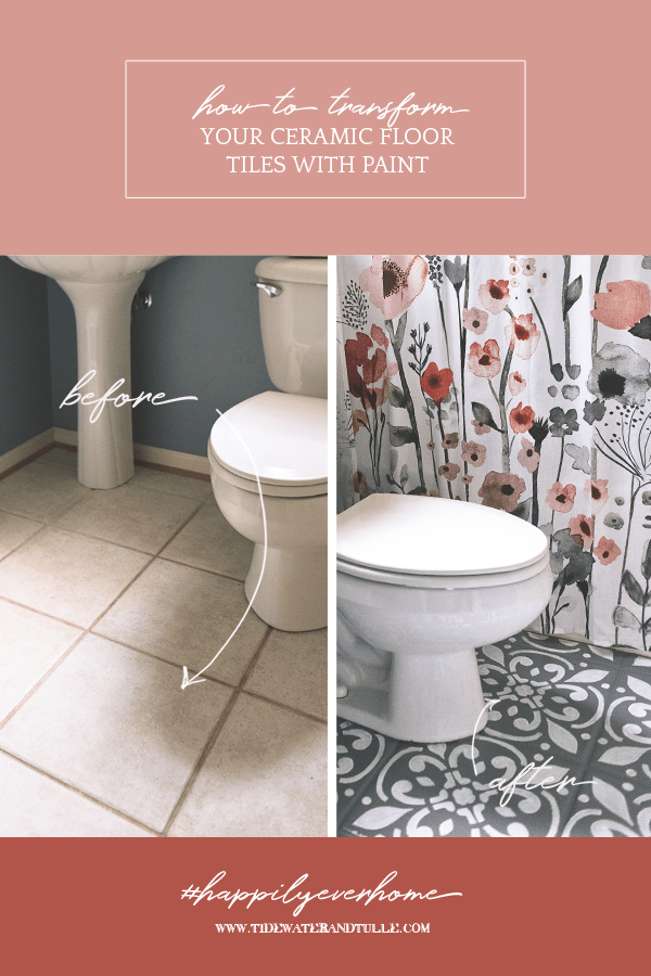 paint stencil your ceramic floor