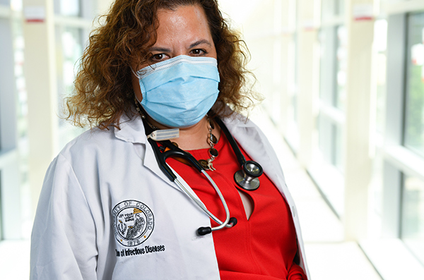 The science of masks. Dr. Michelle Barron, an infectious disease expert, recommends masks.