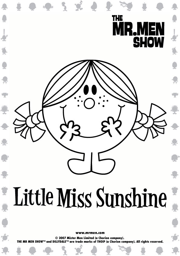 mr men show printables