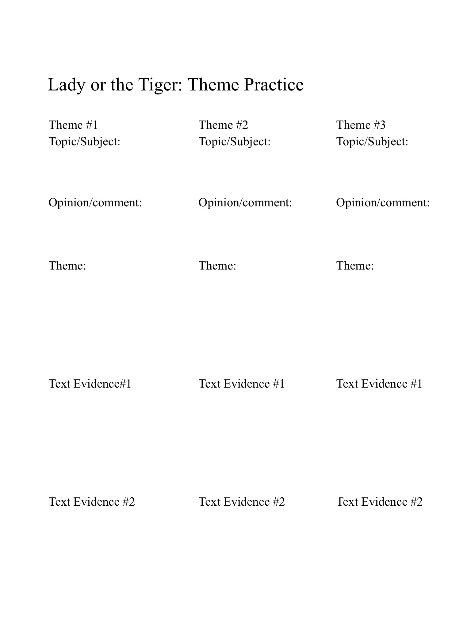 I Have Homework For The Lady Or The Tiger That Is About