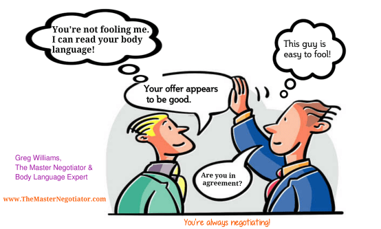 Negotiation Reading Body Language Hand movement
