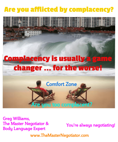Are you afflicted by complacency