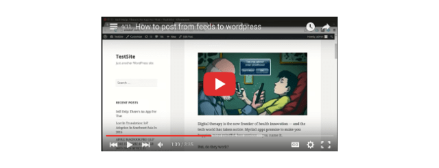 How to post from feeds to wordpress