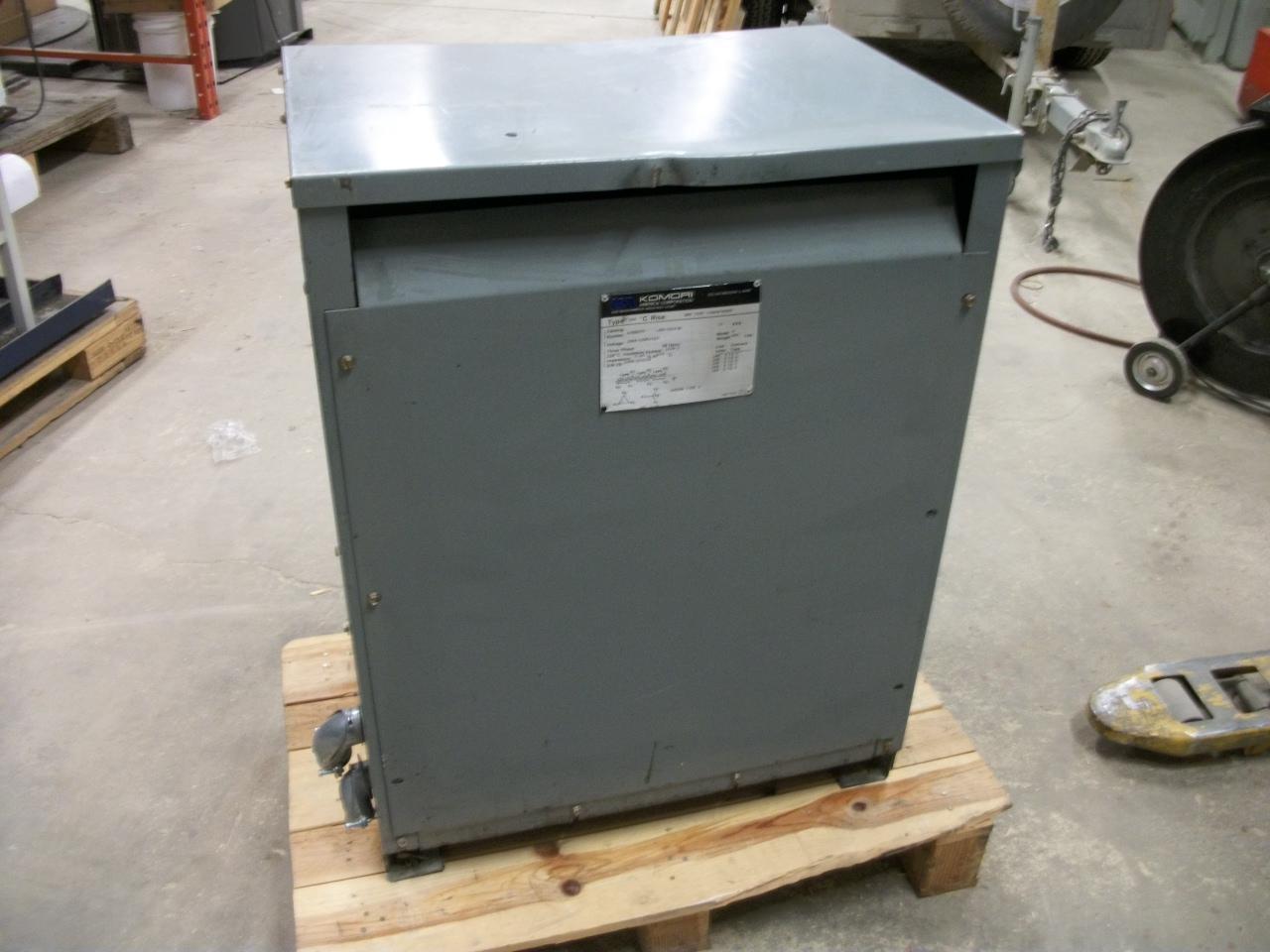 Lot 52 3 Phase Transformer 208 240 To 480 600 Volt 75kva