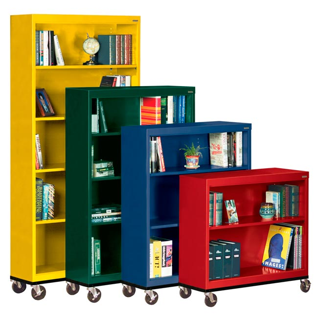 All Mobile Metal Bookcases By Sandusky Lee Options