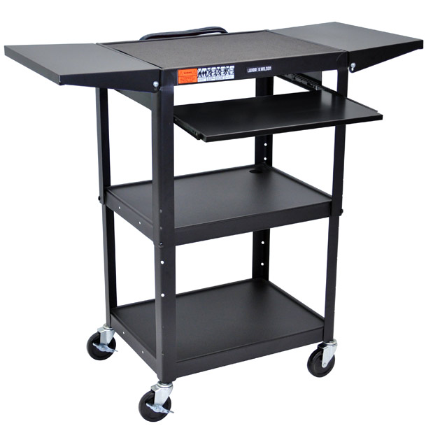 All Drop Leaf Steel Computer Cart By Luxor Options