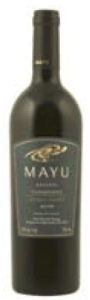 Mayu Reserva Carmenère 2009, Elqui Valley Bottle