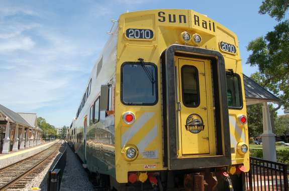 SunRail car. Photo- Grant Gentry, WMFE