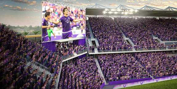 The $155 million, privately-funded stadium will accommodate 25,500 guests. Photo: Orlando City Soccer Club.
