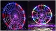 The Orlando Eye was bathed in rainbows on Sunday, June 12.