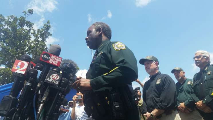 File photo: Orange County Sheriff Jerry Demings addresses reporters.