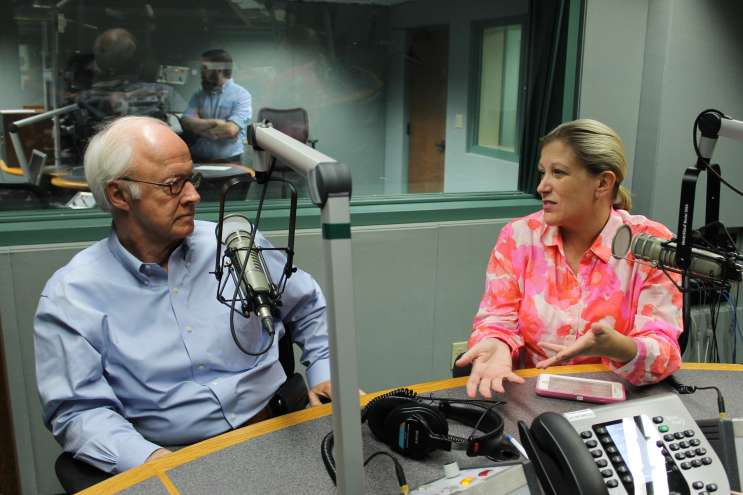Political analysts Dick Batchelor and Michelle Ertel. Photo: Matthew Peddie, WMFE