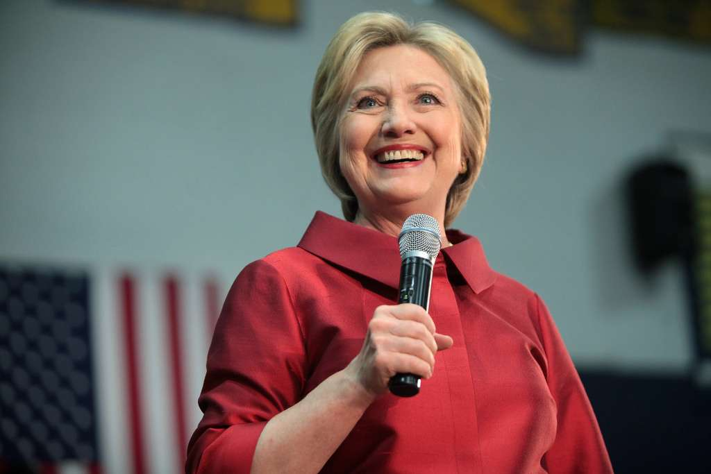 Hillary Clinton speaking on the campaign trail. Photo credit: Flickr