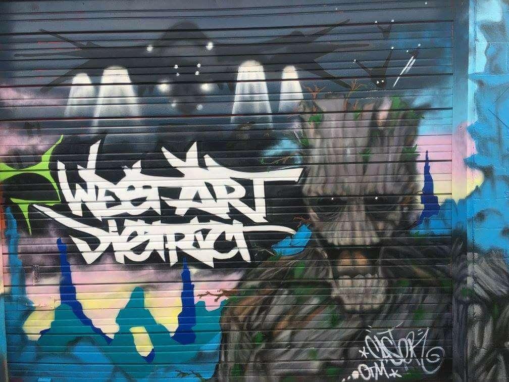 West Art District mural courtesy of West Art District Facebook.