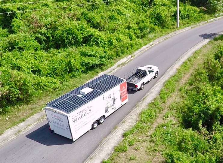 The truck trailers have been sent to Vieques one of the islands hardest hit by Hurricane Maria. Photo: World Housing Solution