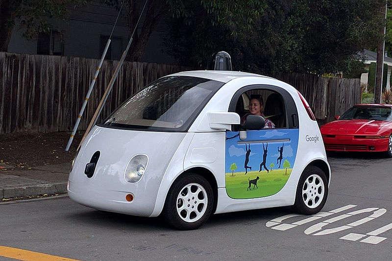 Image: A Google autonomous vehicle in 2016. Photo courtesy of Wikimedia Commons