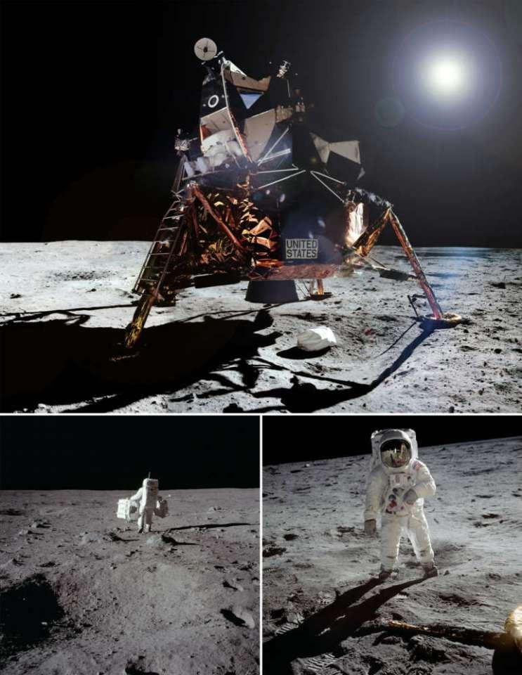 "Edwin ""Buzz"" Aldrin on the moon."
