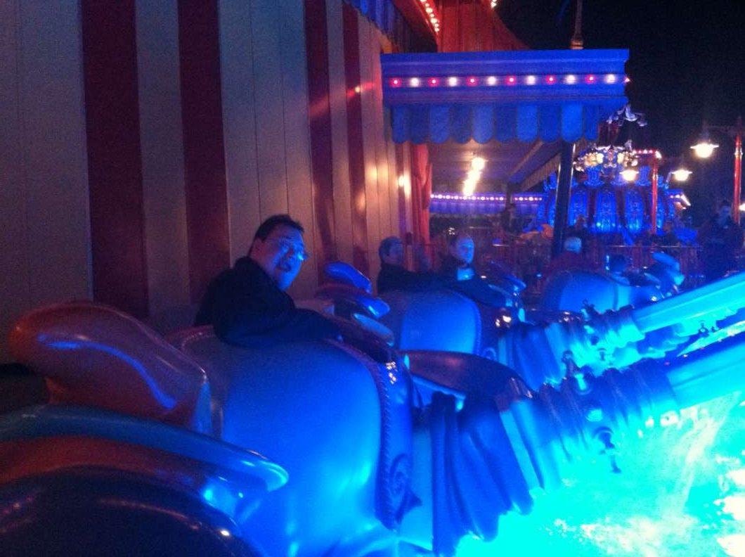 Rob on a ride at the Magic Kingdom. Photo courtesy Sylvia Henry