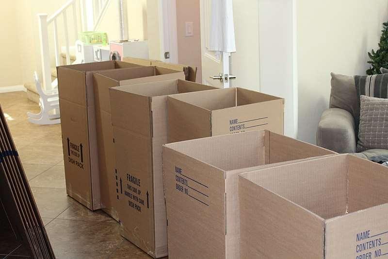 Moving boxes photo courtesy of Wikimedia Commons