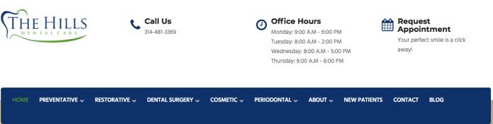 Navigation menu of dentit's office showcasing monetization-first keyword approach
