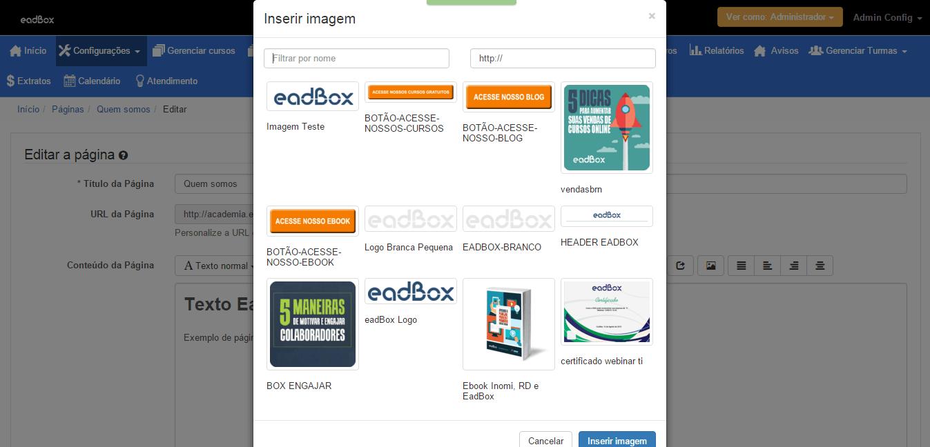 Banco de Imagens Plataforma Eadbox