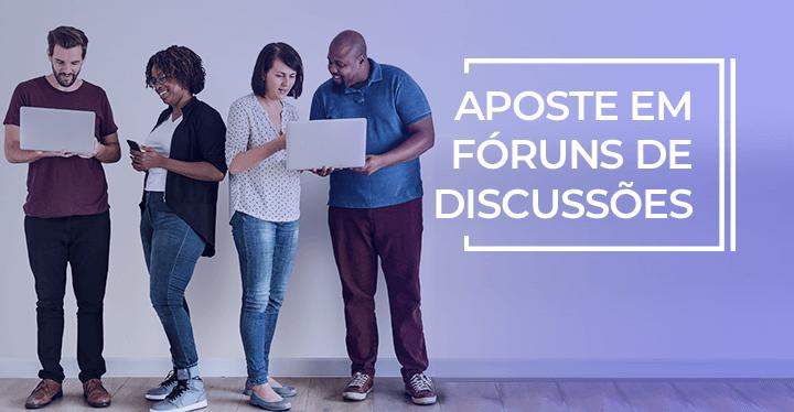 fórum de discussões