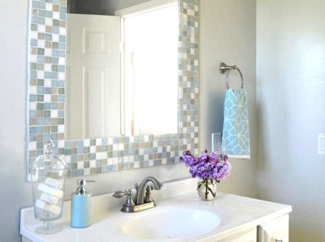 DIY Bathroom Ideas - Mirror Mosaic