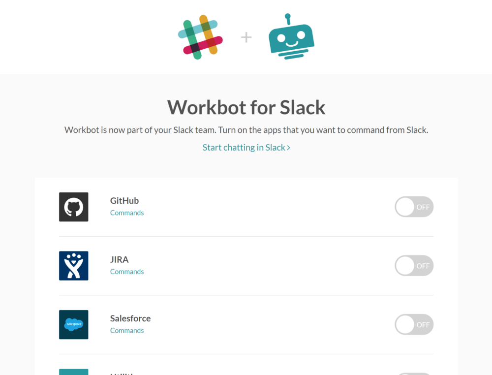 connect apps to workbot