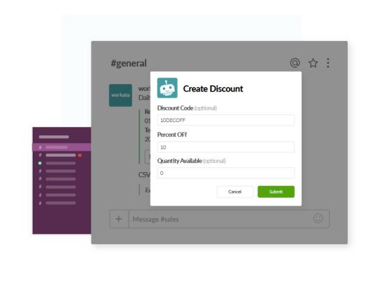 Create Eventbrite Discount in Slack