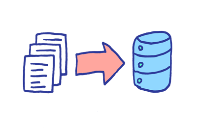 Batch processing involves moving a lot of data at once.